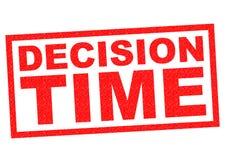 Tempo de decisão ilustração royalty free