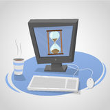 Tempo de espera do computador ilustração stock