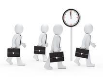 Tempo de execução dos homens de negócio Imagens de Stock