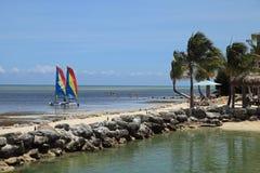 Tempo de férias nas chaves de Florida fotografia de stock