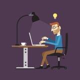 Tempo de funcionamento do homem de negócios, ilustração do vetor Fotos de Stock Royalty Free