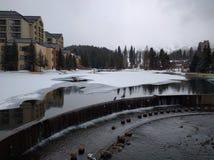 Tempo de inverno em Breckenridge Colorado imagem de stock