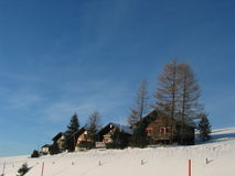 Tempo de inverno, Switzerland imagens de stock