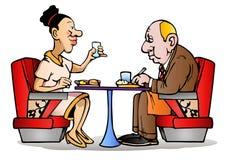 Tempo de jantar dos pares Imagem de Stock