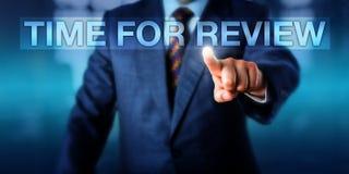 TEMPO de Pressing do gerente da hora PARA a REVISÃO Imagem de Stock Royalty Free