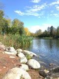 Tempo de queda no lago Imagem de Stock Royalty Free