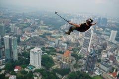Tempo de Selfie no céu Foto de Stock