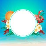 Tempo de verão colorido ilustração royalty free