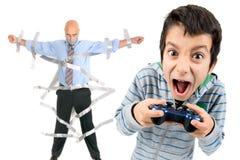 Tempo dei video giochi Fotografia Stock Libera da Diritti