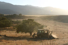 Tempo del bulldozer Fotografia Stock