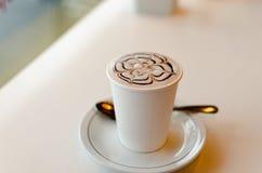 Tempo del caffè del Capuccino Fotografia Stock
