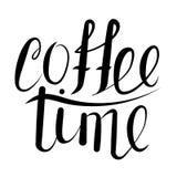 Tempo del caffè di calligrafia Immagini Stock Libere da Diritti