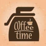 Tempo del caffè Etichetta del caffè l'intervallo per il caffè di tempo del caffè gode di y Fotografia Stock Libera da Diritti