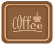 Tempo del caffè Etichetta del caffè l'intervallo per il caffè di tempo del caffè gode di y Fotografie Stock