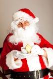 Tempo del caffè per il Babbo Natale Immagini Stock Libere da Diritti