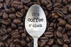 Tempo del caffè Fotografia Stock