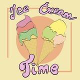 Tempo del gelato Fotografie Stock