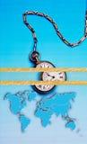 Tempo del mondo, arte astratta di affari Fotografia Stock Libera da Diritti