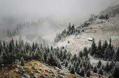 Tempo del paesaggio di inverno Fotografia Stock Libera da Diritti