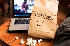 Tempo del popcorn! fotografia stock