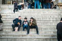 Tempo del pranzo a Costantinopoli, Turchia Fotografie Stock Libere da Diritti