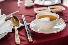 Tempo del tè di cinesi Fotografie Stock Libere da Diritti