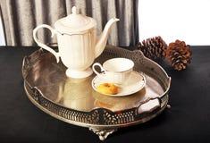 Tempo del tè e della prima colazione Fotografia Stock