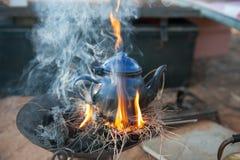 Tempo del tè nel Sahara Fotografia Stock Libera da Diritti