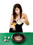 Tempo del tè o giocatore di poker fotografie stock libere da diritti