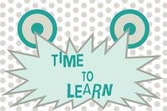 Tempo del testo di scrittura di parola di imparare Concetto di affari per conoscenza nuova Obtain o abilità educativa o crescita  immagini stock