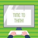 Tempo del testo di scrittura di parola di pensare Concetto di affari per le idee di pensiero di pianificazione che rispondono all royalty illustrazione gratis