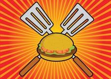Tempo dell'hamburger Fotografie Stock Libere da Diritti