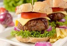 Tempo dell'hamburger immagini stock libere da diritti