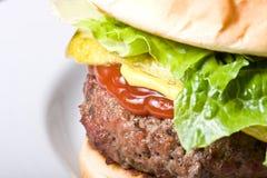 Tempo dell'hamburger Fotografia Stock