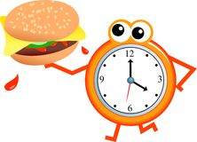 Tempo dell'hamburger Immagine Stock