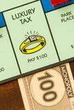 Tempo dell'imposta sui beni di lusso Immagini Stock