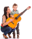 Tempo della chitarra Fotografia Stock