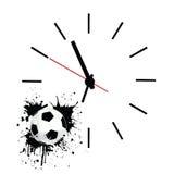 Tempo della corrispondenza di gioco del calcio Fotografia Stock