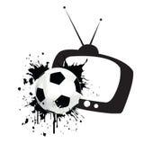 Tempo della corrispondenza di gioco del calcio Fotografie Stock Libere da Diritti