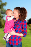 Tempo della figlia e della madre Fotografia Stock
