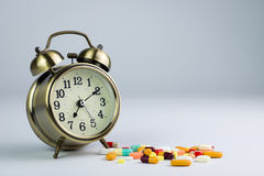Tempo della medicina Fotografia Stock