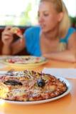 Tempo della pizza Fotografia Stock Libera da Diritti