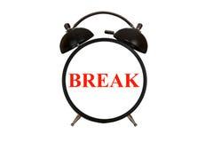 Tempo della rottura Fotografia Stock Libera da Diritti