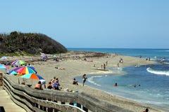 Tempo della spiaggia Fotografia Stock Libera da Diritti
