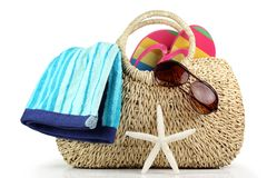 Tempo della spiaggia di estate Fotografie Stock Libere da Diritti