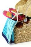 Tempo della spiaggia di estate fotografia stock