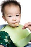 Tempo di alimentazione del bambino Fotografia Stock Libera da Diritti