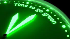Tempo di andare concetto d'ardore verde di protezione dell'ambiente dell'orologio royalty illustrazione gratis