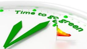 Tempo di andare grafico verde di rendimento energetico illustrazione vettoriale