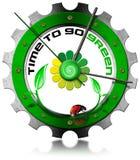 Tempo di andare verde - ingranaggio metallico royalty illustrazione gratis